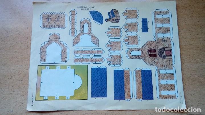 RECORTABLE ESTILO EDIFICIOS Nº 4 EDITORIAL ROMA AÑOS 80 (Coleccionismo - Recortables - Construcciones)