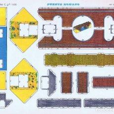 Collectionnisme Images à Découper: CASTILLOS RECORTABLES 1105. PUENTE ROMANO (NO ACREDITADO) CYP, 1971. Lote 114813692