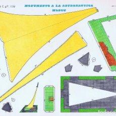 Collectionnisme Images à Découper: CASTILLOS RECORTABLES 1109. MONUMENTO A LA ASTRONAÚTICA MOSCÚ (NO ACREDITADO) CYP, 1971. Lote 114813887