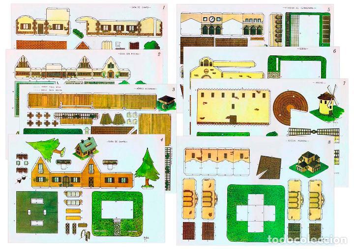 RECORTABLES ZULIA. MANUALIDADES RECREATIVAS 1 A 8. COMPLETA 8 LÁMS ZULIA, S/F. OFRT (Coleccionismo - Recortables - Construcciones)