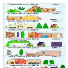 Coleccionismo Recortables: RECORTABLES EDIVAS. CONSTRUCCIONES DE CASAS 1 A 8. COMPLETA 8 LÁMINAS EDIVAS, 1985. Lote 137352534