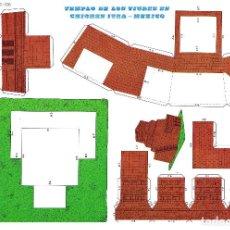 Collectionnisme Images à Découper: CASTILLOS Y CONSTRUCCIONES RECORTABLES EVA 2406. TEMPLO DE LOS TIGRES. 1971 (NO ACREDITADO) 1971. Lote 200880606