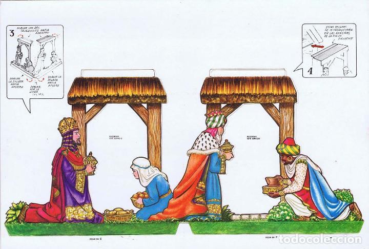 Coleccionismo Recortables: PORTAL DE BELEN PARA MONTAR EN POSTAL DESPLEGABLE 3D. Deana, 1981. OFRT - Foto 5 - 147670682