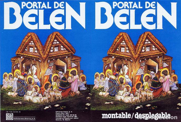 Coleccionismo Recortables: PORTAL DE BELEN PARA MONTAR EN POSTAL DESPLEGABLE 3D. Deana, 1981. OFRT - Foto 8 - 147670682