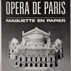 Coleccionismo Recortables: RECORTABLE OPERA DE PARIS. 1990 EDIT. SERTII. Lote 115526479