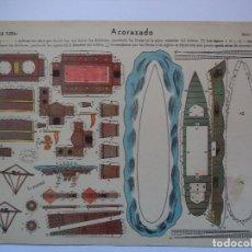 Coleccionismo Recortables: RECORTABLE LA TIJERA SERIE 10 ACORAZADO Nº 67. Lote 115826151