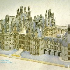 Collectionnisme Images à Découper: RECORTABLE CASTILLO DE CHAMBORD (FRANCIA). 1986. Lote 116111507