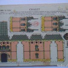 Coleccionismo Recortables: LA TIJERA.SERIE 5.Nº19.CHALET. Lote 116756519