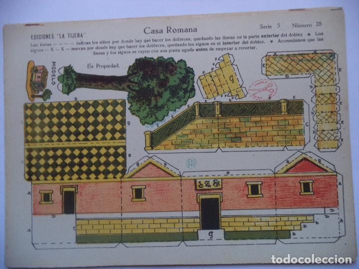 LA TIJERA.SERIE 5.Nº 28.CASA ROMANA. (Coleccionismo - Recortables - Construcciones)