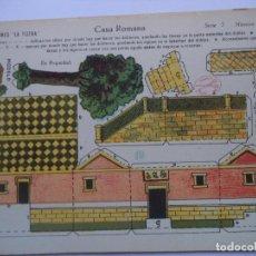 Coleccionismo Recortables: LA TIJERA.SERIE 5.Nº 28.CASA ROMANA.. Lote 116757031