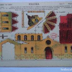 Coleccionismo Recortables: LA TIJERA.SERIE 5.Nº 50.IGLESIA. Lote 116759295