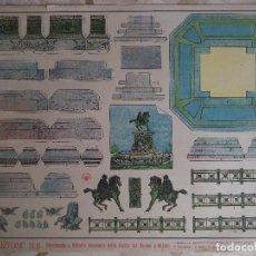 Coleccionismo Recortables: RECORTABLE ITALIANO.MONUMENTO A VITTORIO EMANUELE NELLA PIAZZA DEL DUOMO A MILANO.. Lote 116905351