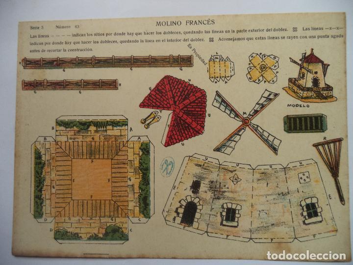 LA TIJERA SERIE 5.Nº 63 MOLINO FRANCES (Coleccionismo - Recortables - Construcciones)