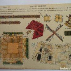 Coleccionismo Recortables: LA TIJERA SERIE 5.Nº 63 MOLINO FRANCES. Lote 116908987