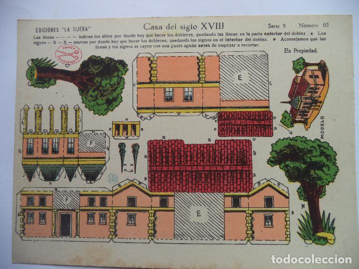 LA TIJERA SERIE 5.Nº 65.CASA DEL SIGLO XVIII (Coleccionismo - Recortables - Construcciones)