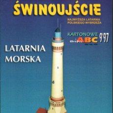 Coleccionismo Recortables: RECORTABLE FARO DE LA COSTA. SWINOUJSCIE. POLONIA . Lote 118103675