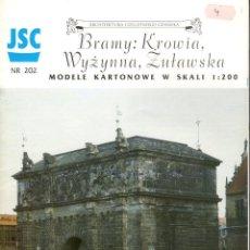 Coleccionismo Recortables: RECORTABLE BRAMY. PUERTA DE ADUANA EN GDANSK POLONIA. 1998. Lote 118107143