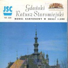 Coleccionismo Recortables: RECORTABLE ANTIGUO AYUNTAMIENTO DE GDANSK POLONIA. 1998. Lote 118107247
