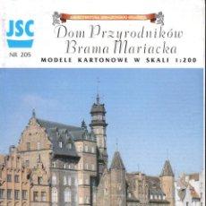 Coleccionismo Recortables: RECORTABLE CASA DE GREMIOS POLONIA 1998. Lote 118107483