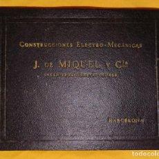 Coleccionismo Recortables: BARCELONA, J. DE MIQUEL Y CIA, CONSTRUCCIÓNES ELECTRO-MECANICAS. . Lote 118311963