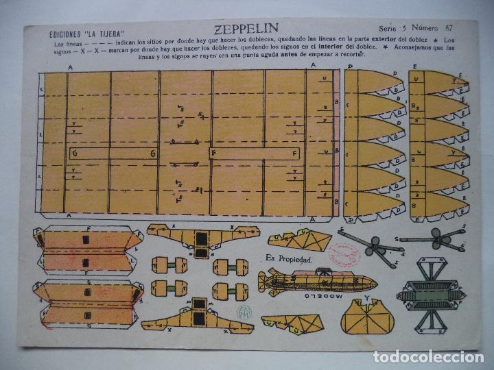 LA TIJERA SERIE 5 ZEPPELIN Nº 87 (Coleccionismo - Recortables - Construcciones)