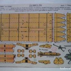 Coleccionismo Recortables: LA TIJERA SERIE 5 ZEPPELIN Nº 87. Lote 118476811