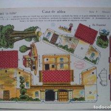 Coleccionismo Recortables: LA TIJERA SERIE 5.CASA DE ALDEA Nº 76. Lote 118477187
