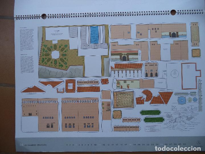 Coleccionismo Recortables: ESPECTACULAR CALENDARIO CON 11 RECORTABLES DE OTROS TANTOS MONUMENTOS EUROPEOS PUBLICADO POR MERCEDE - Foto 4 - 118532567