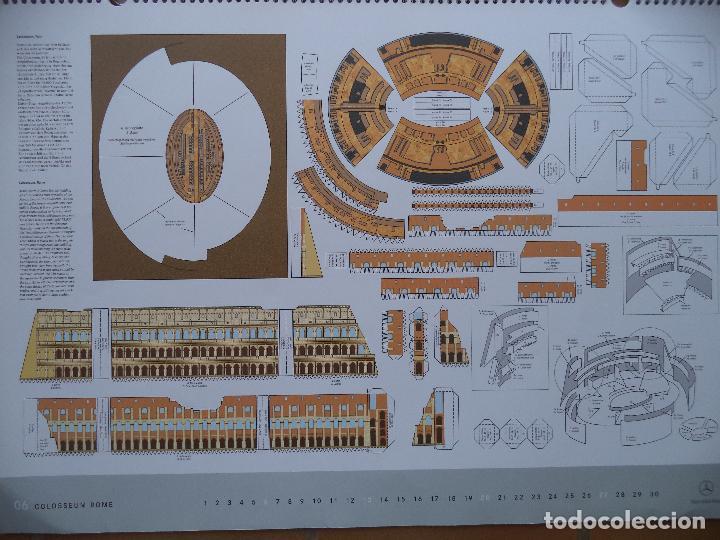 Coleccionismo Recortables: ESPECTACULAR CALENDARIO CON 11 RECORTABLES DE OTROS TANTOS MONUMENTOS EUROPEOS PUBLICADO POR MERCEDE - Foto 6 - 118532567