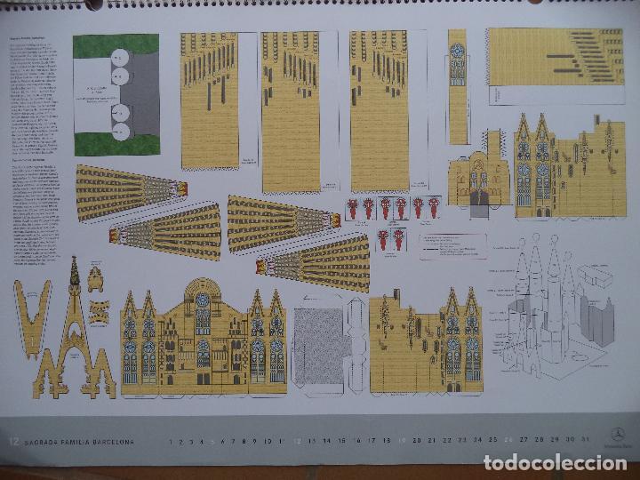 Coleccionismo Recortables: ESPECTACULAR CALENDARIO CON 11 RECORTABLES DE OTROS TANTOS MONUMENTOS EUROPEOS PUBLICADO POR MERCEDE - Foto 12 - 118532567