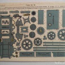 Coleccionismo Recortables: LA TIJERA SERIE 10 CAÑON DEL 42 Nº 17. Lote 118877235