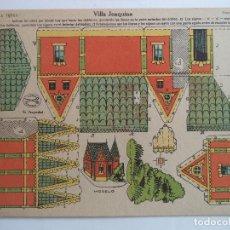 Coleccionismo Recortables: LA TIJERA SERIE 10 VILLA JOAQUINA NUMERO 16. Lote 118877383