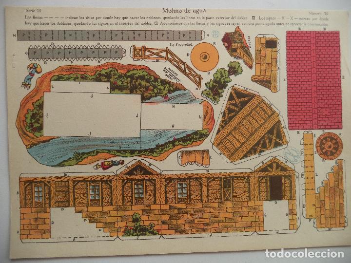 LA TIJERA SERIE 10 MOLINO DE AGUA Nº 30 (Coleccionismo - Recortables - Construcciones)
