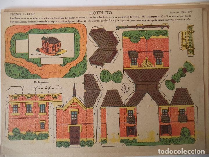 LA TIJERA SERIE 10 HOTELITO Nº 209 (Coleccionismo - Recortables - Construcciones)