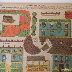 Coleccionismo Recortables: LA TIJERA SERIE 10 CHALET CON TORREON Nº 208. Lote 119000339