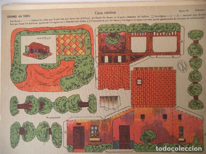 LA TIJERA SERIE 10 CASA RUSTICA Nº 205 (Coleccionismo - Recortables - Construcciones)