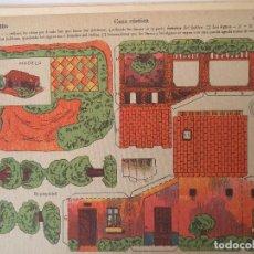 Coleccionismo Recortables: LA TIJERA SERIE 10 CASA RUSTICA Nº 205. Lote 119000531