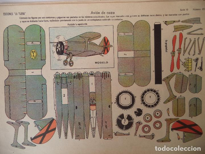 LA TIJERA SERIE 10 AVION DE CAZA Nº 253 (Coleccionismo - Recortables - Construcciones)