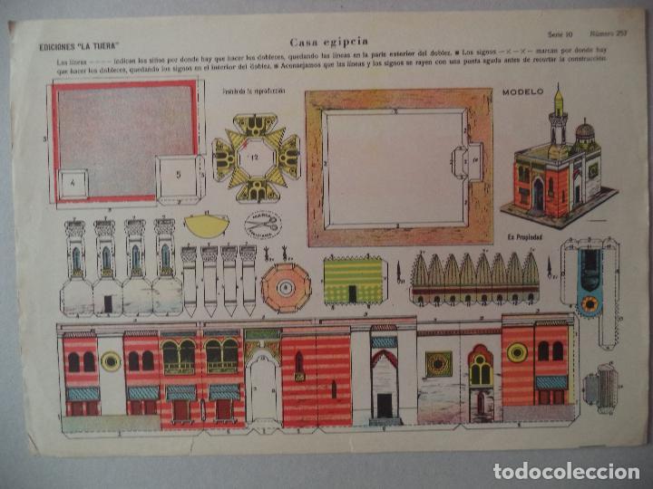 LA TIJERA SERIE 10 CASA EGIPCIA Nº 257 (Coleccionismo - Recortables - Construcciones)