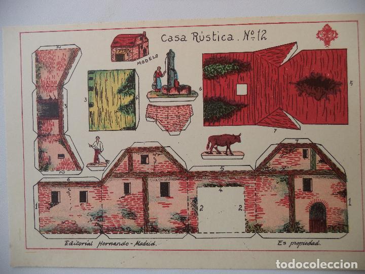 RECORTABLES HERNANDO.Nº 12.CASA RUSTICA (Coleccionismo - Recortables - Construcciones)