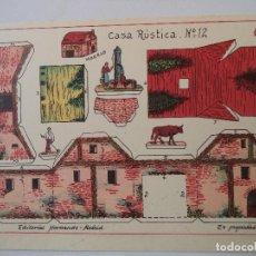 Coleccionismo Recortables: RECORTABLES HERNANDO.Nº 12.CASA RUSTICA. Lote 119261143