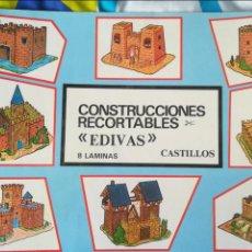 Coleccionismo Recortables: CONSTRUCCIONES RECORTABLES CASTILLOS EDIVAS. Lote 119549686