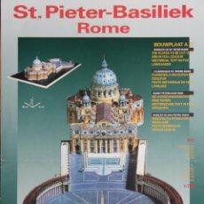 Colecionismo Recortáveis: RECORTABLE BASILICA DE SAN PEDRO DE ROMA.. Lote 119887835
