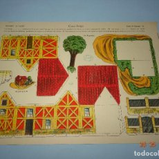 Coleccionismo Recortables: ANTIGUA LÁMINA CASA BELGA SERIE 10 Nº 70 RECORTABLE DE EDICIONES * LA TIJERA * AÑO 1930S. Lote 120153599