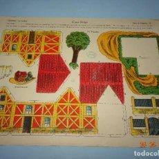 Coleccionismo Recortables: ANTIGUA LÁMINA CASA BELGA SERIE 10 Nº 70 RECORTABLE DE EDICIONES * LA TIJERA * AÑO 1930S. Lote 120155167