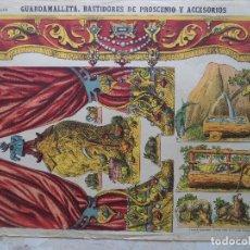 Coleccionismo Recortables: ESTAMPERIA ECONOMICA PALUZIE GUARDAMALLETA.BASTIDORES DE PROSCENIO Y ACCESORIOS. Lote 120727211