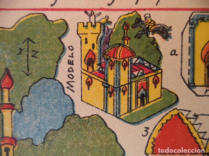 RECORTABLE HERNANDOEL CABALLO MAGICO A GALOPE POR LOS AIRES ..SOBRE EL PALACIO DEL REY Nº 80 (Coleccionismo - Recortables - Construcciones)