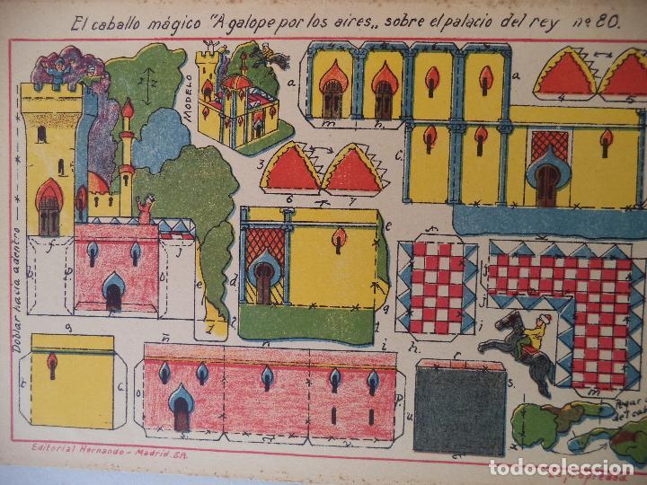 Coleccionismo Recortables: RECORTABLE HERNANDOEL CABALLO MAGICO A GALOPE POR LOS AIRES ..SOBRE EL PALACIO DEL REY Nº 80 - Foto 2 - 121016511