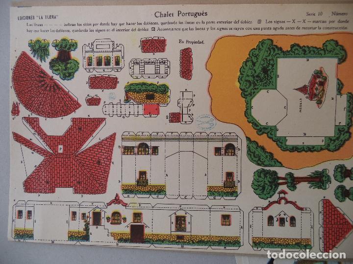 LA TIJERA SERIE 10 CHALET PORTUGUES Nº 108 (Coleccionismo - Recortables - Construcciones)