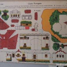 Coleccionismo Recortables: LA TIJERA SERIE 10 CHALET PORTUGUES Nº 108. Lote 121336727